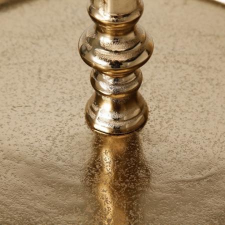 Etajera metalica aurie prajituri H 50 cm