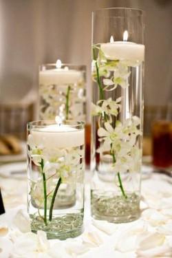 cilindri sticla pentru lumanari plutitoare