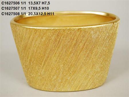 Vas ceramic auriu L13.5 cm