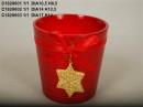 Vas ceramic rosu D 14 cm H 12.5 cm