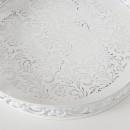 Set 2 tavi albe metalice Karina D 28-37 cm