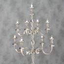 Sfesnic metalic Cezar H 180 cm argintiu nichelat