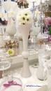Vaza inalta pentru nunta Iuno alba H 60 cm