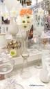 vaza sticla inalta pentru aranjamente florale