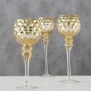 Set 3 sfesnice Manou H 30-40 cm aurii