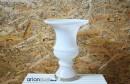 Cupa din sticla alba Elysium H 28 cm