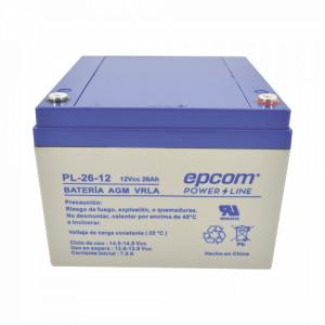 Pl2612 Epcom Powerline Bateria Con Tecnologia AGM/