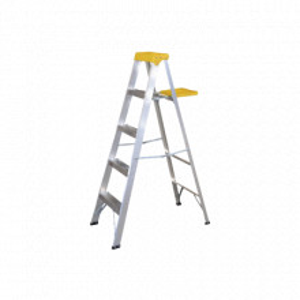 SYSET4 Surtek Escalera de aluminio tipo tijera 4