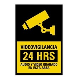 Syscalvid Syscom Etiqueta De Videovigilancia En Vinil Adhesivo Ma