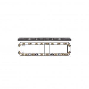 Vtg60a Ecco Torreta ambar De 60 Vantage 20 LED 2 Luces De Traba
