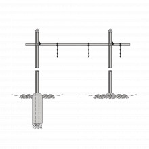 Wgbs121014 Rohn Guia De Cable Horizontal Tipo Puen