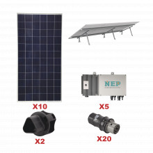 Kit10bdm600lv127 Epcom Kit Solar Para Interconexio