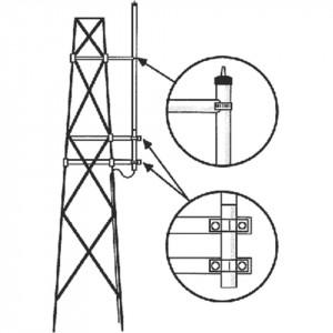 Smk150hd Hustler Kit Para Montaje Lateral En Torre Antenas VHF S