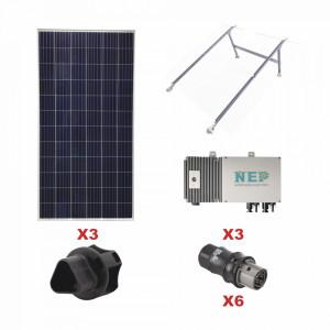 Kit3bdm600lv127 Epcom Kit Solar Para Interconexion