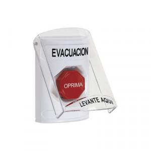 SS2322EVES Sti Boton de Evacuacion con Tapa Protec
