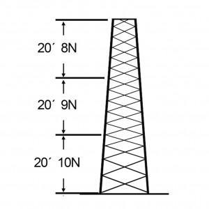 Ssv18m108 Rohn Torre Especial Autosoportada Robust