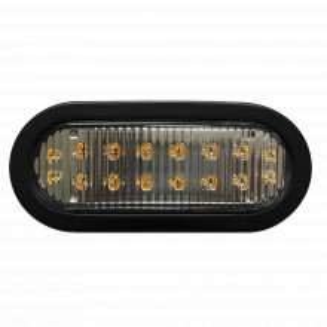 X3965a Ecco Luz Direccional LED Ovalada Ambar Con