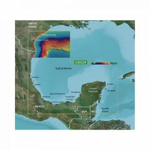 10c073300 Garmin Mapa VUS032R Sur Del Golfo De Mex
