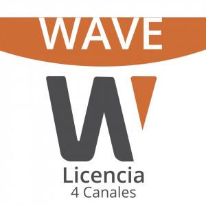 Wavepro04 Hanwha Techwin Wisenet Licencia De 4 Can
