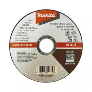 D18409 Makita Disco de Corte de 7/8 de acero ino