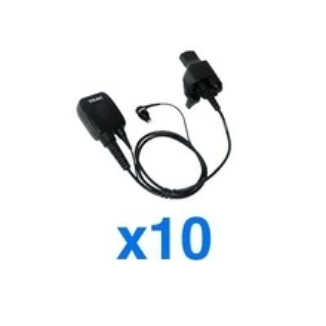 Em200mh2kit Teac Kit De 10 Microfonos Audifonos Para Motorola HT1