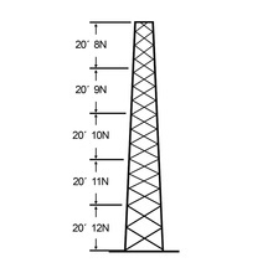 Ssv30m128 Rohn Torre Especial Autosoportada Robust