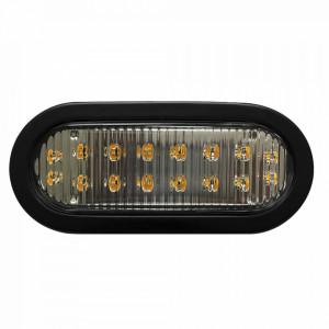 X3965r Ecco Luz Direccional LED Ovalada Roja Con M