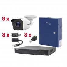 Kevtx8t8bga Hikvision KIT TurboHD Con Audio 1080p / DVR 8 Ca