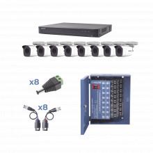 Kevtx8t8bw Epcom KIT TurboHD 1080p / DVR 8 Canales / 8 Camar