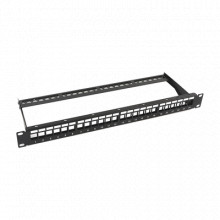LPPP23UTPBK24P Linkedpro Patch panel modular sin blindaje de