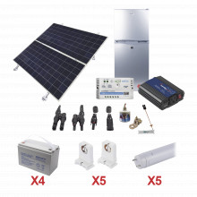 Pvfridgelight5 Epcom Powerline Kit De Energia Solar Para Ref