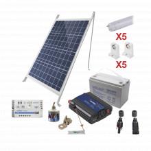Pvt8light5 Epcom Powerline Kit Solar Para Iluminacion Basica