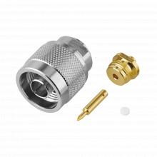 Rfn10051sr1 Rf Industriesltd Conector N Macho Soldable Dir