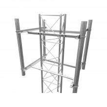 Sblu4secg Syscom Towers Brazo Lateral De 4 Sectores Recomend