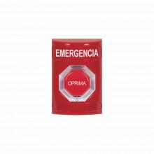 Ss2009emes Sti Boton De Emergencia En Espanol Color Rojo