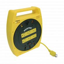 Sys136035 Surtek Multicontacto Electrico Tipo Carrete Con 6