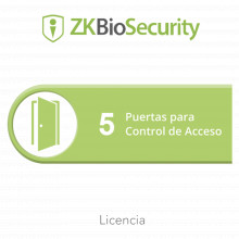 Zkbsac5 Zkteco Licencia Para ZKBiosecurity Permite Gestionar