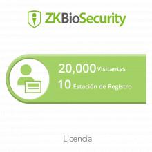 Zkbsvisp10 Zkteco Licencia Para ZKBiosecurity Permite La Ges