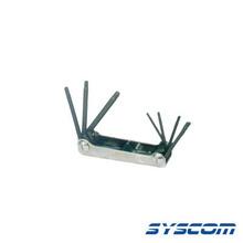 370572 Syscom Juego De 7 Llaves TORX T6 T7 T8 T9 T10 T