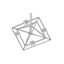 Brm43510 Rohn Montaje De Techo Para Mastil KY206 montajes de
