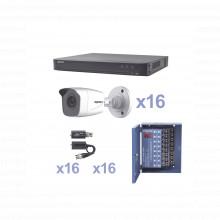 Kevtx8t16bw Epcom KIT TurboHD 1080p / DVR 16 Canales / 16 Ca