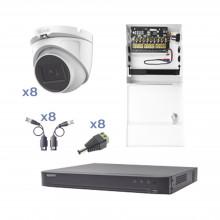 Kevtx8t8ega Epcom KIT TurboHD Con Audio 1080p / DVR 8 Canale