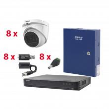 Kevtx8t8ega Hikvision KIT TurboHD Con Audio 1080p / DVR 8 Ca