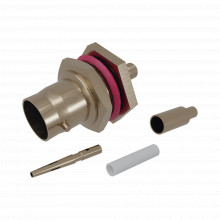 Rfb1117bt04 Rf Industriesltd Conector BNC Hembra/ Chasis En