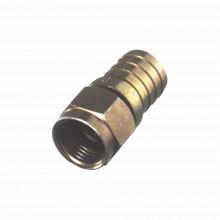 Rff140208 Rf Industriesltd Conector F Macho 75 Ohm Plegab