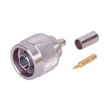 Rfn1005amp Rf Industriesltd Conector N Macho De Anillo Pleg