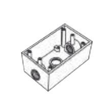 Rr0282 Rawelt Caja Condulet FS De 3/4 19.05mm Con Tres Bo