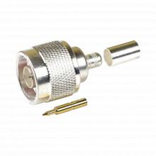 Ttcon532 Epcom Titanium Conector N Macho Para 75 Ohm De Anil