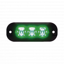 Xtp3g Code 3 Luz Perimetral De 3 LEDS Color Verde azul
