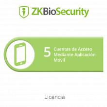 Zkbsapp5 Zkteco Licencia Para ZKBiosecurity Para 5 Cuentas D